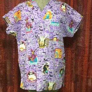 SB Fashion Scrubs Halloween Top